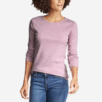 Women's Favorite Long-Sleeve Crewneck T-Shirt in Purple