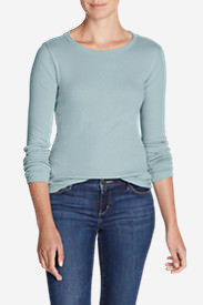 Women's Favorite Long-Sleeve Crewneck T-Shirt Tall in Blue