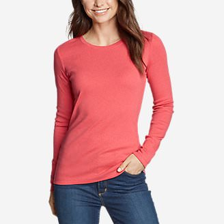 Women's Favorite Long-Sleeve Crewneck T-Shirt in Orange