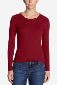 Women's Favorite Long-Sleeve Crewneck T-Shirt in Red