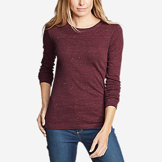 Women's Favorite Long-Sleeve Crewneck T-Shirt Tall in Orange