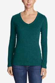 Women's Favorite Long-Sleeve V-Neck T-Shirt in Green