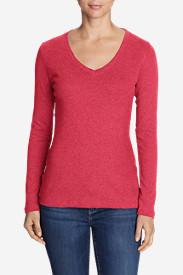 Women's Favorite Long-Sleeve V-Neck T-Shirt in Pink