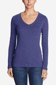 Women's Favorite Long-Sleeve V-Neck T-Shirt in Purple