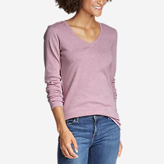 Women's Favorite Long-Sleeve V-Neck T-Shirt in Purple