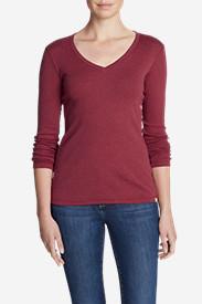 Women's Favorite Long-Sleeve V-Neck T-Shirt in Red
