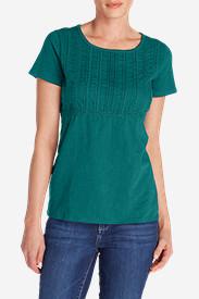 Women's Daybreak Short-Sleeve Top in Green