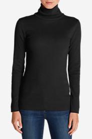Women's Lookout 2x2 Rib Long-Sleeve Turtleneck in Black