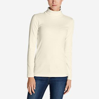Women's Lookout 2x2 Rib Long-Sleeve Turtleneck in White