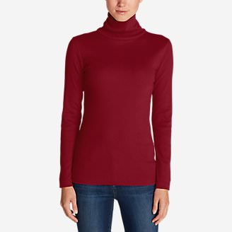 Women's Lookout 2x2 Rib Long-Sleeve Turtleneck in Red