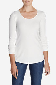 Women's Layerific Long-Sleeve Scoop-Neck T-Shirt in White