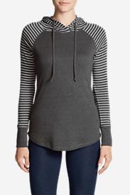 Women's Favorite Pullover Hoodie - Stripe in Gray