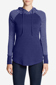 Women's Favorite Pullover Hoodie - Stripe in Purple