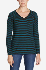 Women's Meadow Knit Long-Sleeve Raglan Top in Blue