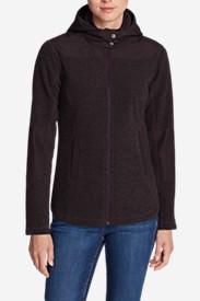 Women's Forest Ridge Bouclé Fleece Full-Zip Hoodie in Purple