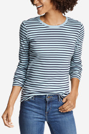 Women's Favorite Long-Sleeve Crew T-Shirt - Stripe in Blue