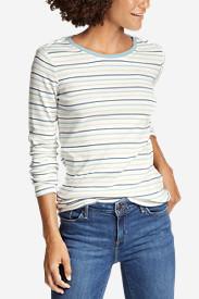 Women's Favorite Long-Sleeve Crew T-Shirt - Stripe in White