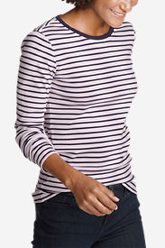 Women's Favorite Long-Sleeve Crew T-Shirt - Stripe in Pink