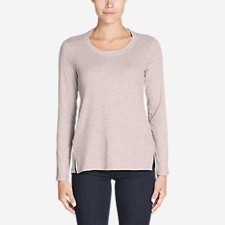 Women's Stine's Favorite Mixed Media Waffle Crew in Pink