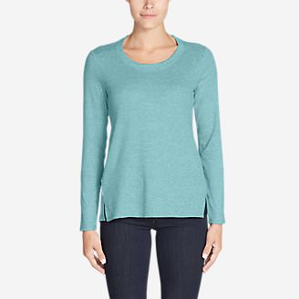 Women's Stine's Favorite Waffle Crew - Mixed Media in Blue