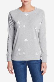 Women's Legend Wash Americana Stars Sweatshirt in Gray