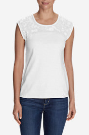 Women's Daybreak Embroidered Top in White