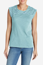 Women's Daybreak Embroidered Top in Blue