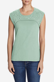 Women's Daybreak Embroidered Top in Green