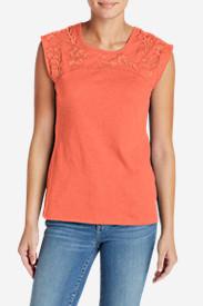 Women's Daybreak Embroidered Top in Orange