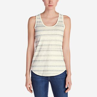 Women's Ravenna Tank Top - Stripe in Gray