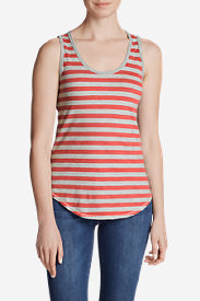 Women's Ravenna Tank Top - Stripe in Red
