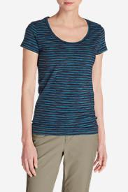 Women's Lookout T-Shirt - Space Dye Stripe in Blue