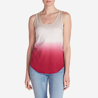 Women's Ravenna Tank Top - Dip Dye in Red