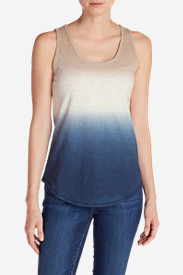 Women's Ravenna Tank Top - Dip Dye in Blue