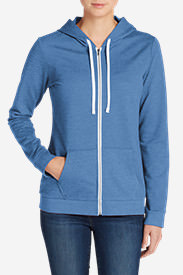 Women's Camp Fleece Full-Zip Hoodie in Blue