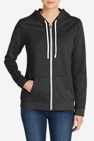 Women's Camp Fleece Full-Zip Hoodie in Gray