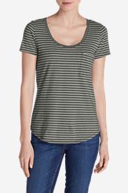 Women's Gypsum T-Shirt - Striped in Green