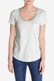 Women's Gypsum T-Shirt - Striped in White