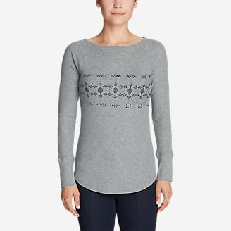 Women's Stine's Favorite Waffle Crew - Flocked in Gray