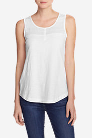 Women's Pintuck Tank Top in White