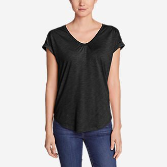 Women's Gatecheck Tunic T-Shirt in Black