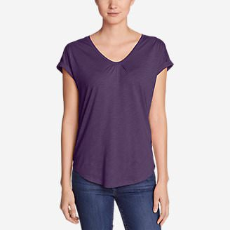 Women's Gatecheck Tunic T-Shirt in Purple
