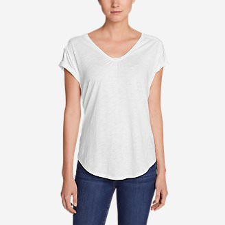 Women's Gatecheck Tunic T-Shirt in White