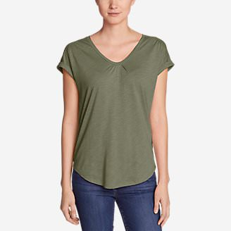 Women's Gatecheck Tunic T-Shirt in Green