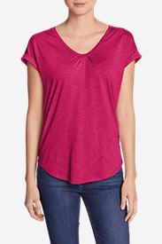 Women's Gatecheck Tunic T-Shirt in Pink