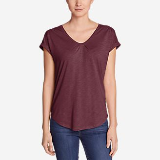 Women's Gatecheck Tunic T-Shirt in Red