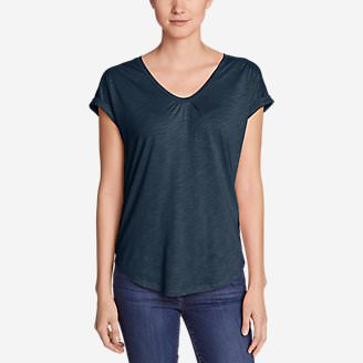 Women's Gatecheck Tunic T-Shirt in Blue