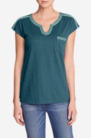 Women's Rosario Beach Pocket T-Shirt in Blue