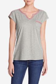 Women's Rosario Beach Pocket T-Shirt in Gray