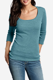 Women's Favorite 3/4-Sleeve Scoop-Neck T-Shirt in Green